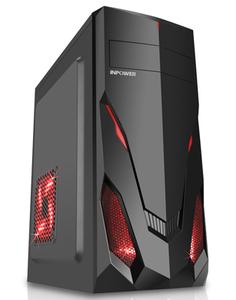 赢派 明朗1钢化玻璃电脑机箱亚克力大侧透/支持ATX主板背线长显卡高CPU散热器水冷 头狼 黑